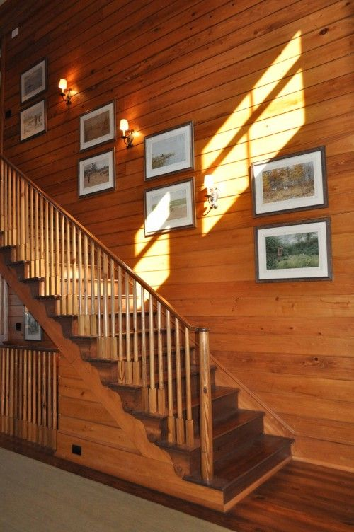 images of traditional simple open stairways | interior design musings: Stairwell Lighting