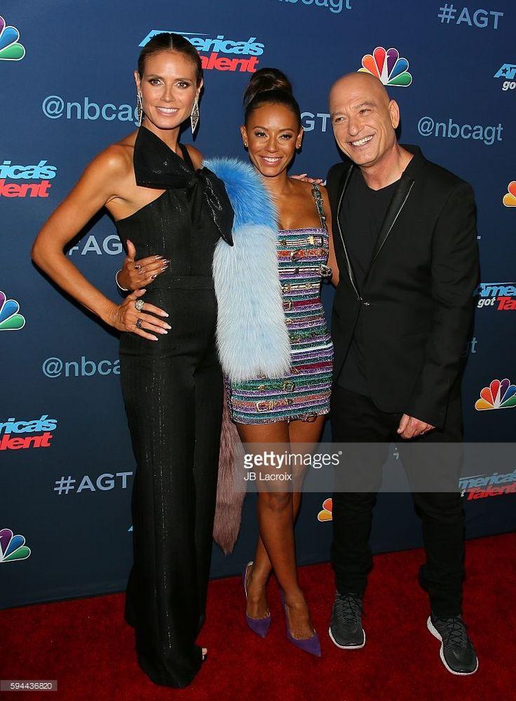 Heidi Klum, Mel B and Howie Mandel attend the 'America's Got Talent' Season 11…