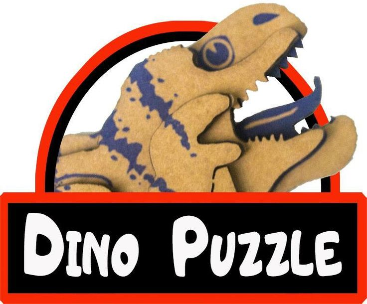 Dino puzzle :) kartondan uc boyutlu boyanabilir organik ve cocuklar icin saglikli puzzle lar