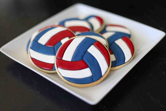 awesome volleyball cookie