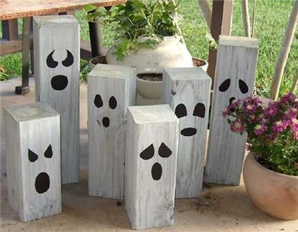 heres an easy halloween project if you have some lumber scraps laying around - Diy Halloween Yard Decorations
