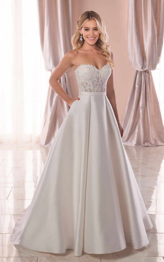 Simple And Sleek Wedding Gown Stella York Wedding Dresses