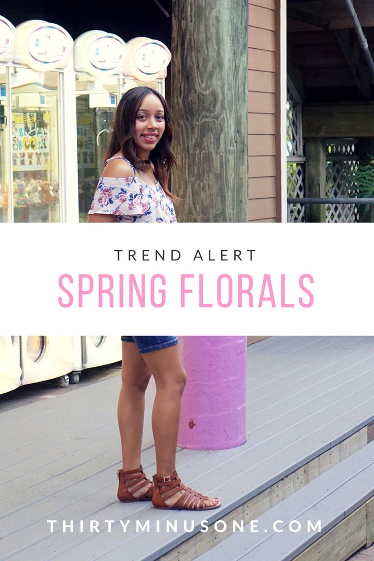 Trending this spring; florals, cold shoulder tops...