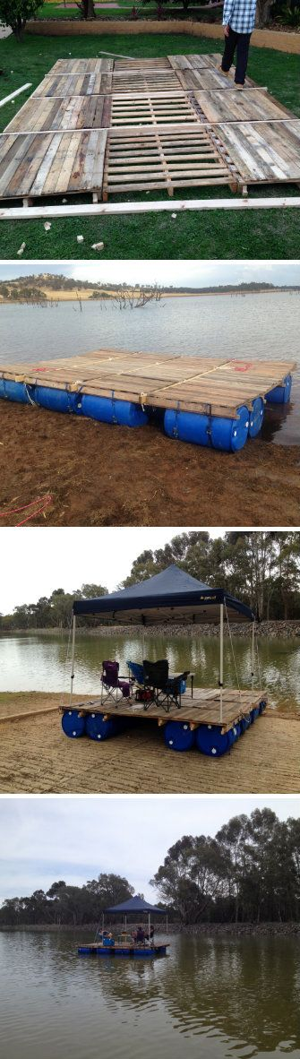 Recycled Pallet Pontoon