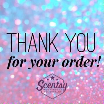 Thank you for your Scentsy order #scentsbykris