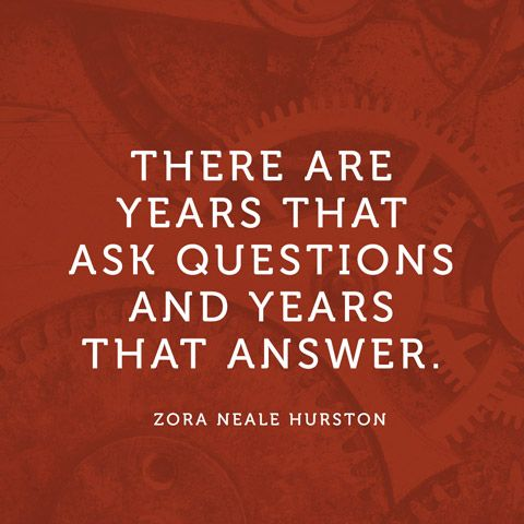 Quote About New Year - Questions and Answers - Zora Neale Hurston