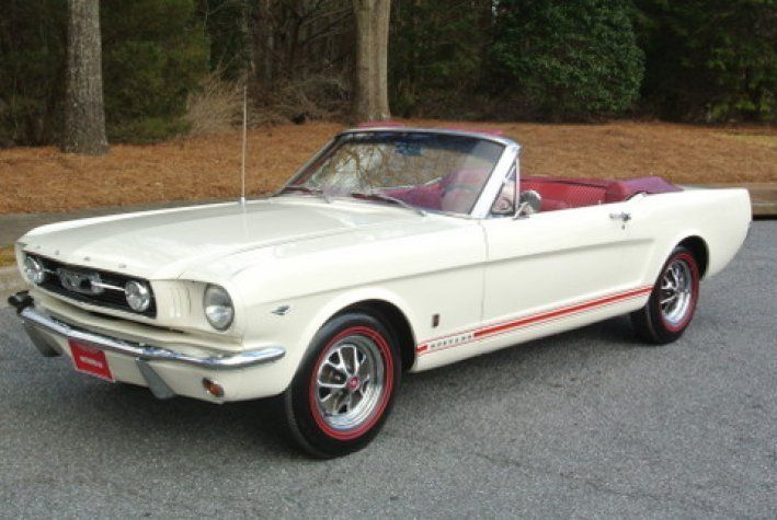 1966 Ford Mustang 42950 00 Usd Gt Convertible Terrific Wimbledon White Red Gt Striping Built To Gt Cosmetic Sp Mustang Convertible Ford Mustang Gt Mustang