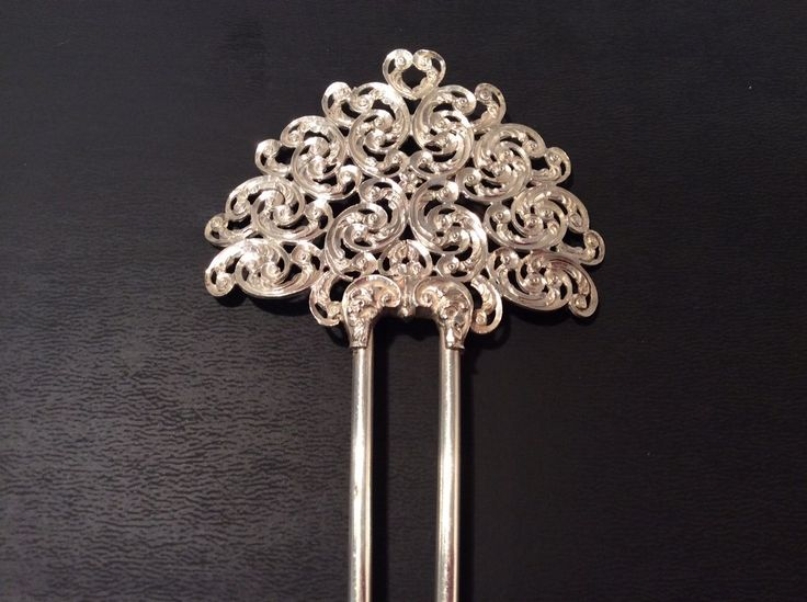 Antique Victorian Sterling Silver Hair Comb 21.8g Silver Marked RS & Sterling | eBay
