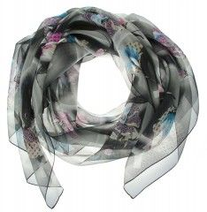 SZAL GUESS SCARF SILK BLACK