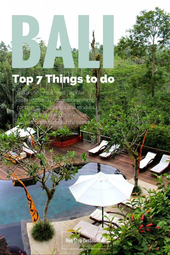 Top 7 Things to do in Bali - Non Stop Destination
