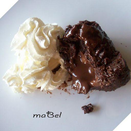Pasteles de colores: Volcan de chocolate en 2 minutos