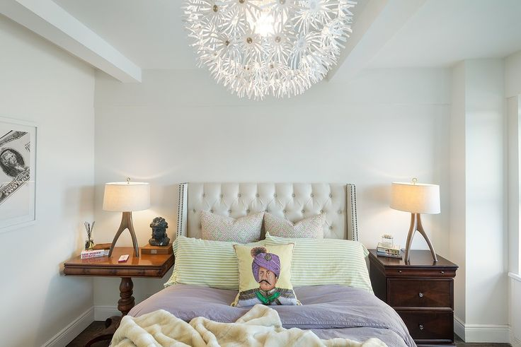 Chelsea Apartment bedroom by Tamara Eaton DEsign