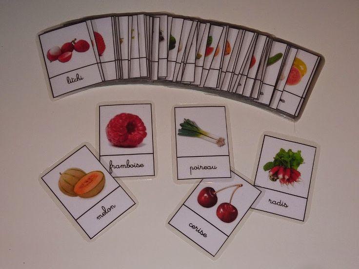 Crapouillotage: Cartes de Nomenclatures : FRUITS & LEGUMES