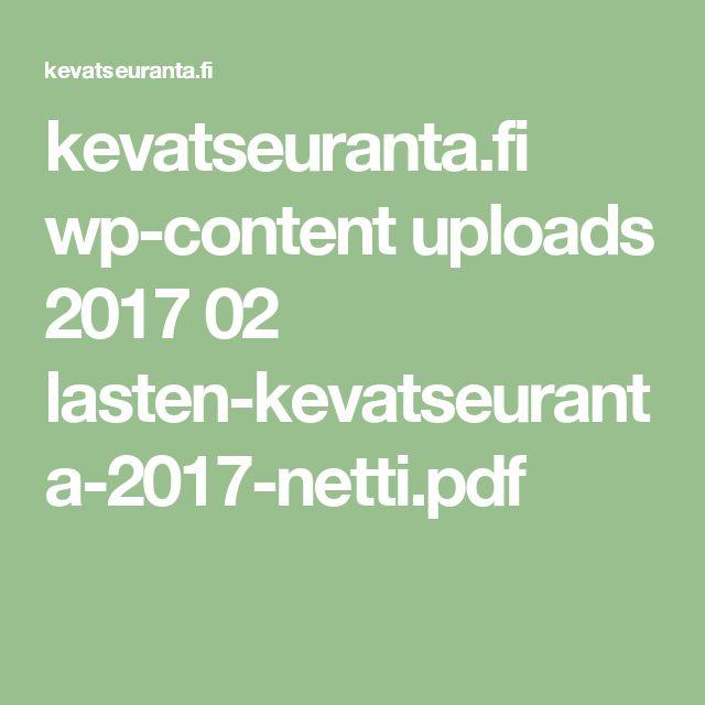 kevatseuranta.fi wp-content uploads 2017 02 lasten-kevatseuranta-2017-netti.pdf