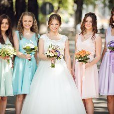 #Love #cute #lovely #flowers #happiness #wedding day #church #bridesmaids