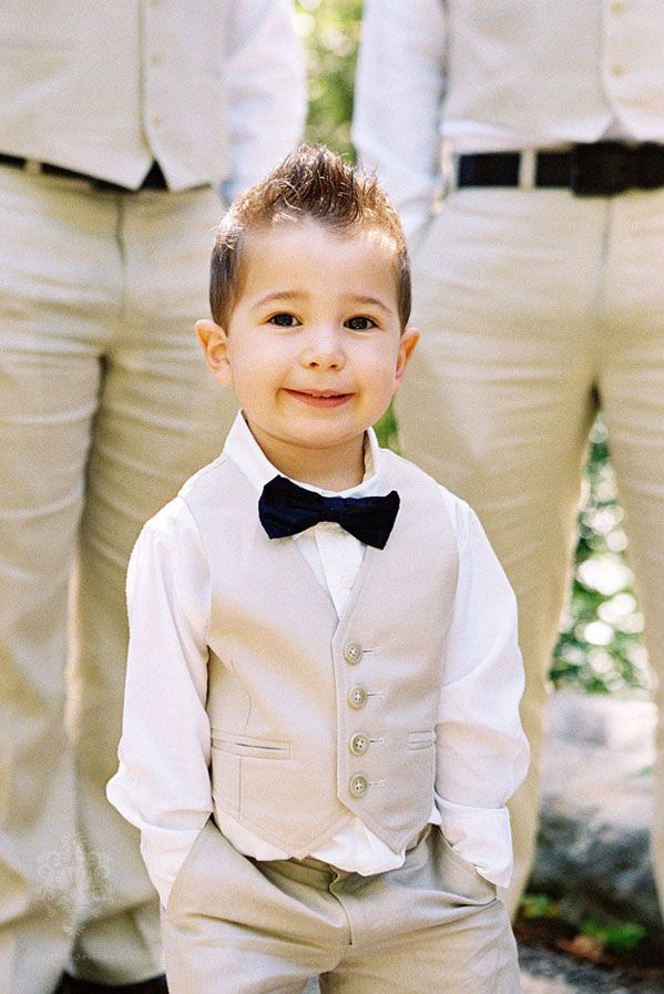 Ring Bearer Outfit: Grey to match Groomsmen, tie to match flower girl dress