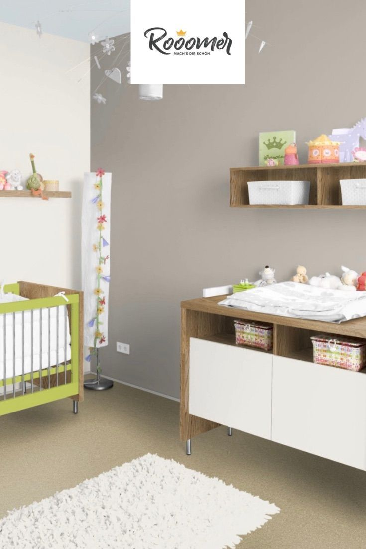 Kinderzimmer In Der Wandfarbe Warmes Grau Warm Grey Wandfarbe Warmes Grau Farben
