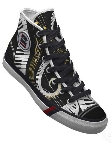Piano Keyboard Pro Keds/Trainers/Sneakers/Shoes - Luxe Fashionably Ideas-  New Trends - Luxe Fashionably Ideas- New Trends