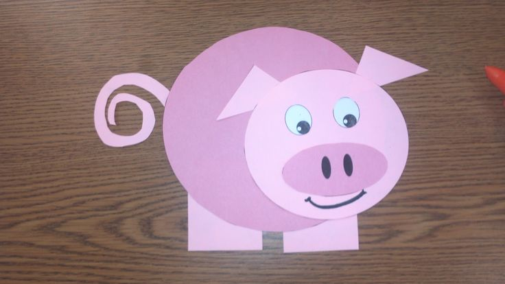 Pink Pig Paper Plate Craft