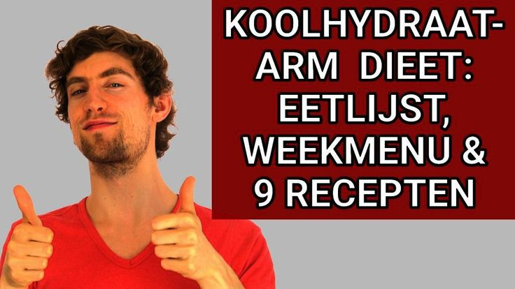 koolhydraatarm dieet lijst weekmenu recepten