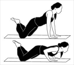 Knee Push Ups, because I can't do real ones...just do 10 and take a break...10 and take a break...continue until arms are jello