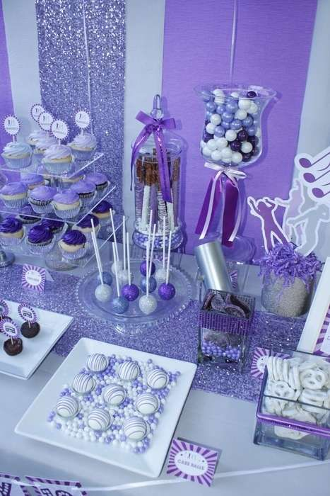 Dance birthday party treats!  See more party planning ideas at CatchMyParty.com!