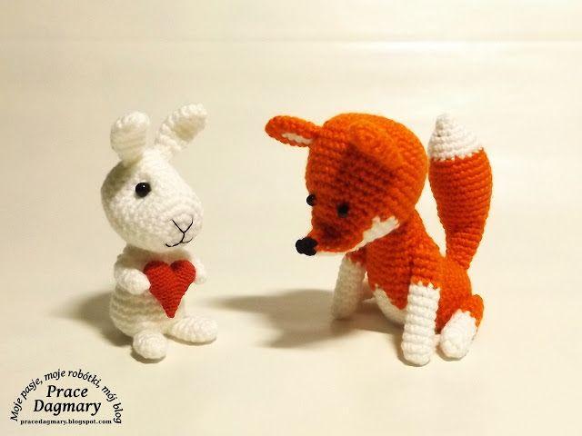szydełkowy lis i królik