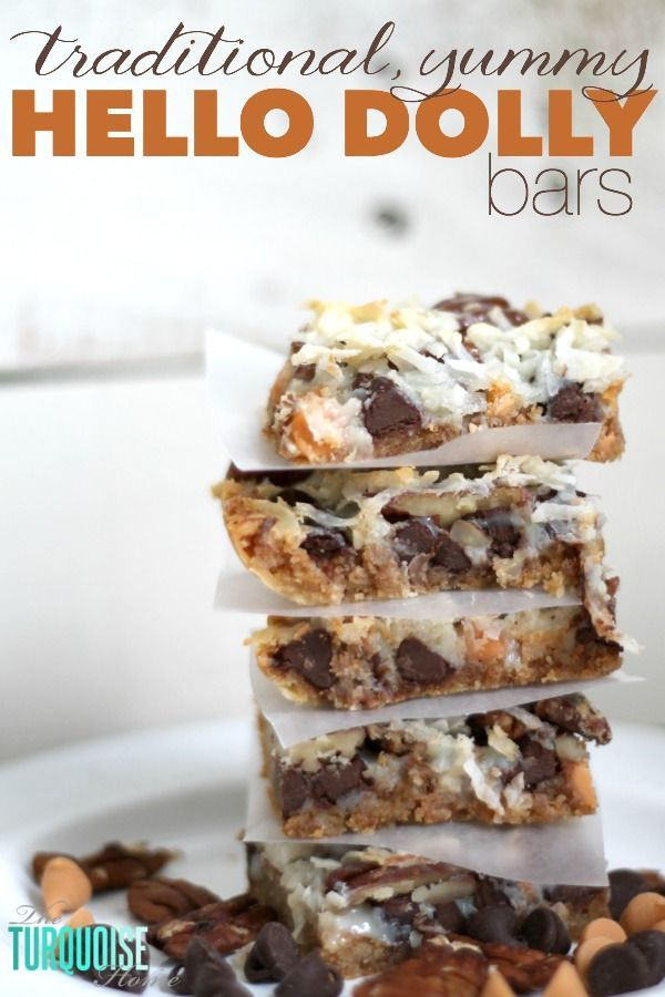 This quick and easy dessert is the traditional and yummy Hello Dolly Bar, but also can be called a Magic Bar or a 7 Layer Bar. Whatever you call it, the soft, delicious graham cracker crust, rich chocolate and crunchy coconut drizzled with sweetened condensed milk is so scrumptious that you'll be making them for …