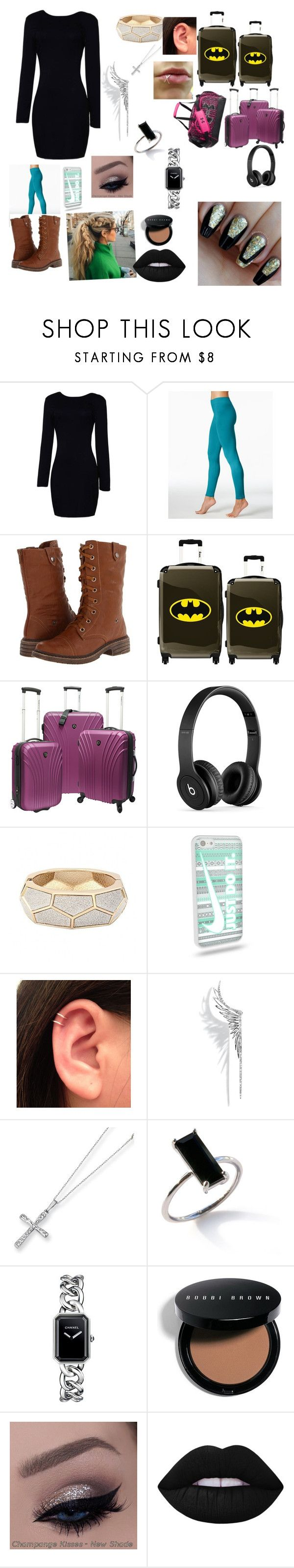 """Going to Paris with"" by hazzajelly on Polyvore featuring Wanted, IKASE, Under Armour, Beats by Dr. Dre, Cristina Ortiz, Kevin Jewelers, Chanel, Bobbi Brown Cosmetics and Lime Crime"
