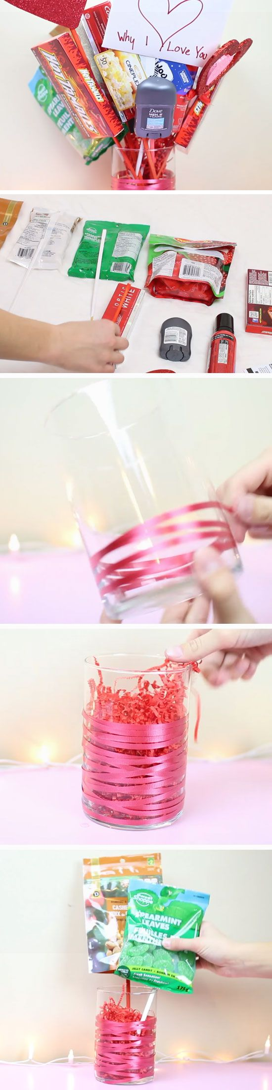 Man Bouquet | DIY Valentines Mason Jar Crafts for Him | Easy Gifts in a Jar Ideas for Boyfriend