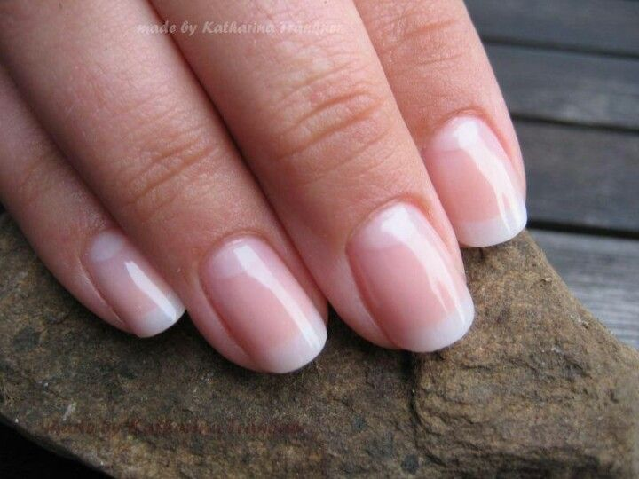 "An ""American manicure""has a softer white than a ""french manicure"""