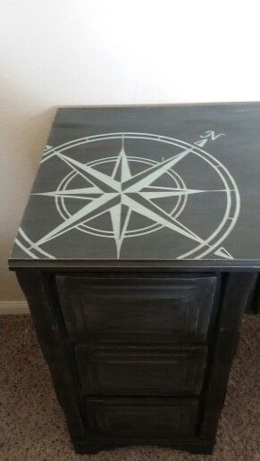 Graphite Chalk Paint By Annie Sloan. Redo By Texas Ugly Duckling Of  Portland Texas.