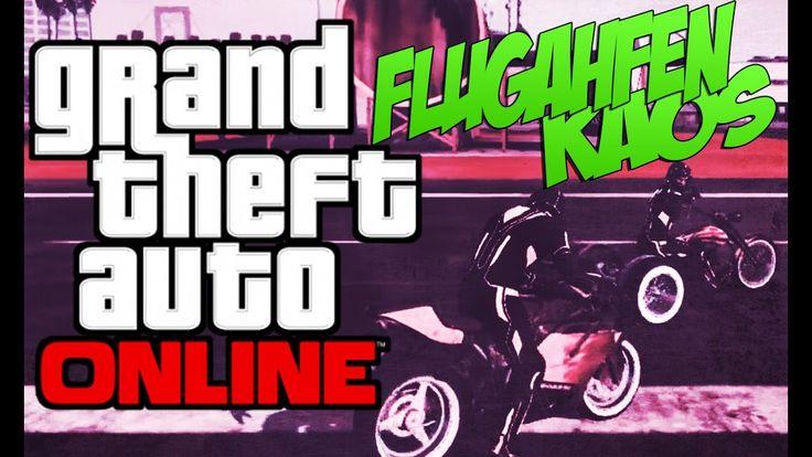 GTA 5 Online - Random & Funny Moments | Flughafen Kaos [GermanHD]