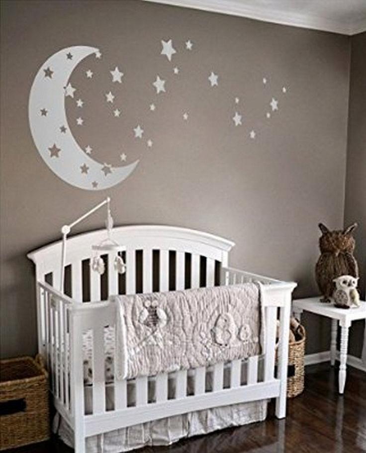 Dazzling Moon And Stars Nursery Decoration Idea 17