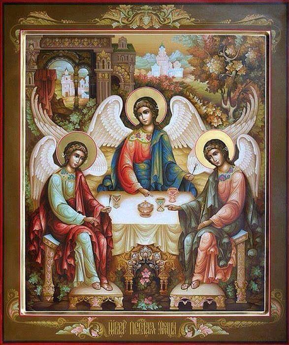 "IC.XC__ "" Η φιλοξενια του Αβρααμ."" Η Αγία Τριάδα """