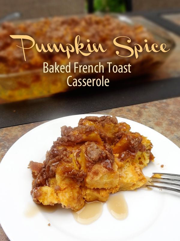 I made this today and it was a hit! Not so syrupy sweet as the caramel French toast my fam often makes.  I used the whole can of pumpkin, one extra egg, and about 1/2 a loaf extra of regular whole wheat bread so that I could do one 9x13 and one 4x6 for later.  Served with homemade brown sugar syrup, but it would be even better with maple.  YUM!