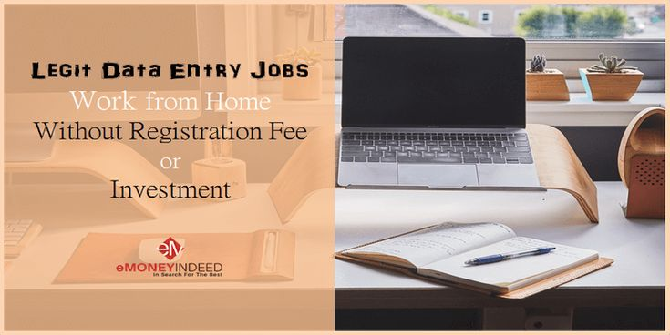 Legit Online Data Entry Jobs from Home Without Registration Fee via @https://www.pinterest.com/emoneyindeed