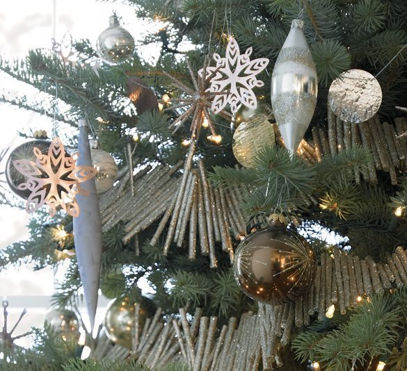Silver And Gold Tree I Crate And Barrel · Tis The SeasonCoastal  ChristmasChristmas ...