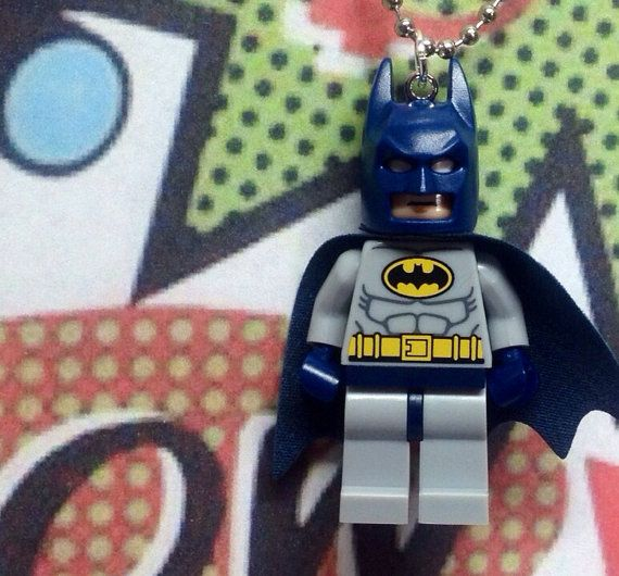 Batman Necklace - Lego Minifigure on Etsy, $15.00