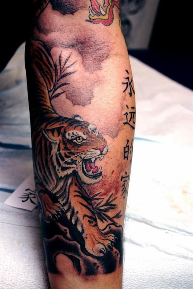 Beautiful Japanese Style Tiger Tattoo | Tattoos | Pinterest