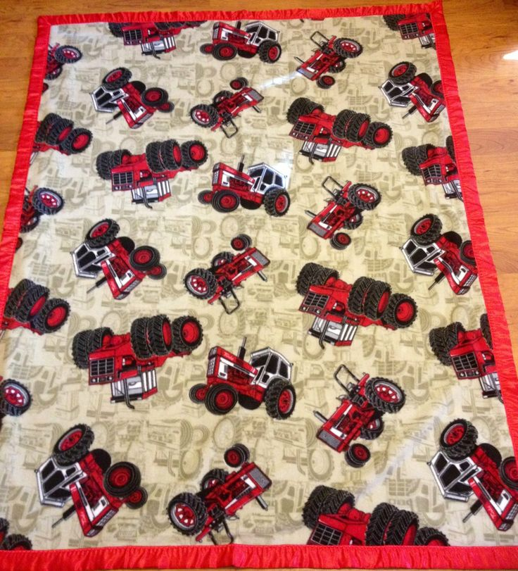 International Harvester Tractor DoubleSided by LadyDiBlankets, $69.99