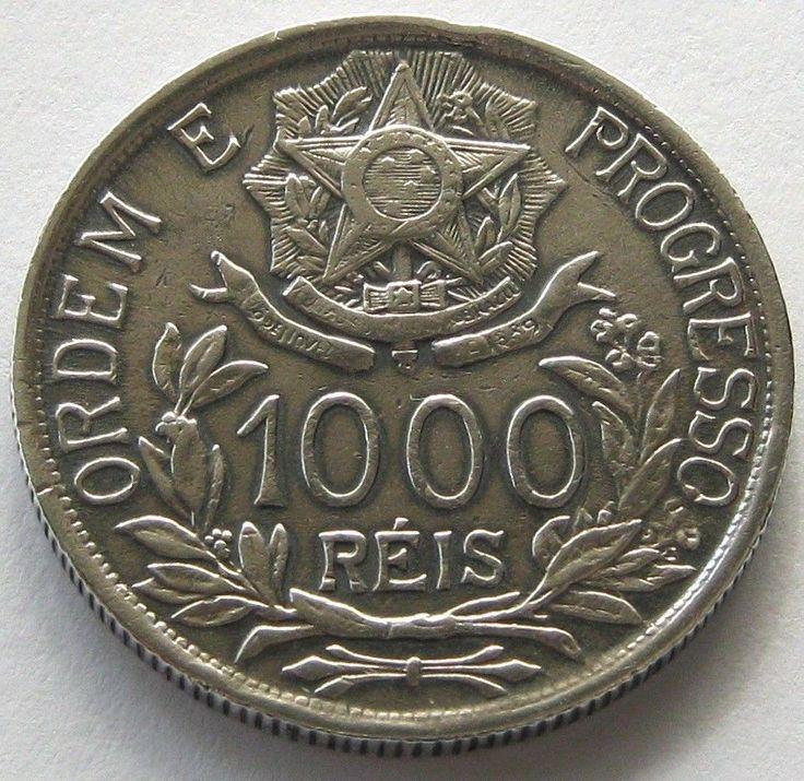 Brazil, Moeda de prata , 1000 Reis 1912