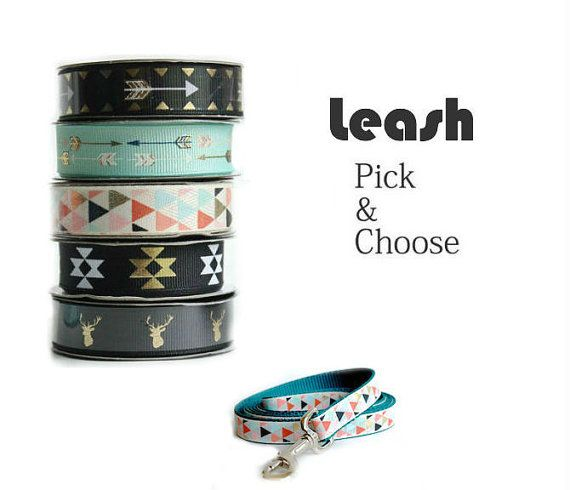 Dog Leash Pick and Choose your own style by MuttsnBones on Etsy