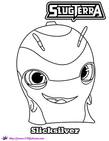 Slugterra Slicksilver Printable Coloring Page and Wallpaper! | SKGaleana