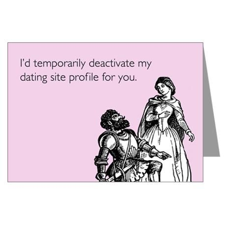 Dating Profile Greeting Card #cafepress