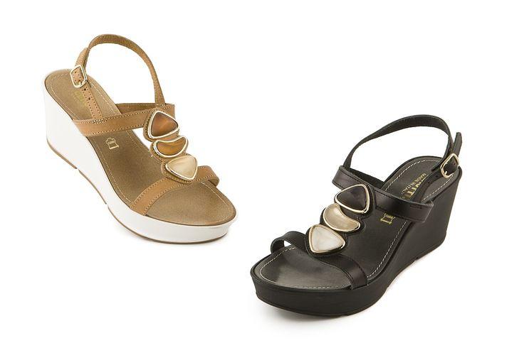 Sandali con zeppa Cerutti. Wedge sandals by Cerutti. Made in Italy. Shop online www.calzaveste.it