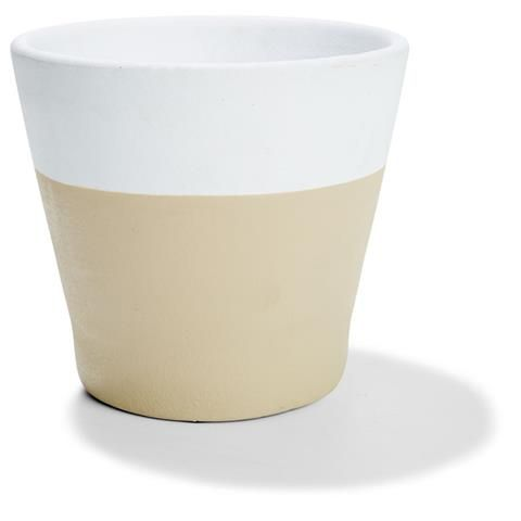 18cm Dipped Pot - White | Kmart- To be used for succulents