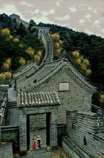 Muralla China, fortificación construida y reconstruido entre el siglo XVI para proteger la frontera norte del imperio chino de los ataques de los nómadas Beijing