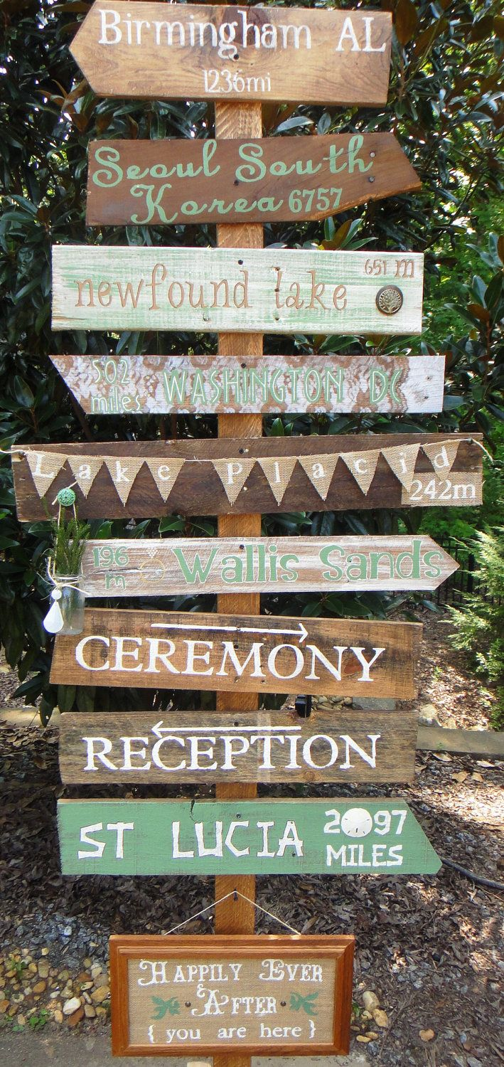 customized key west style distressed wooden mile marker directional sign for decor or special occassion