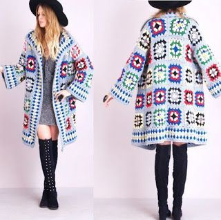 Granny Square Fall Coat Photo Tutorial